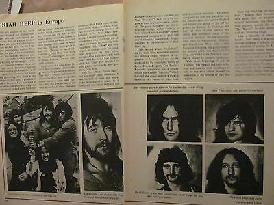 Uriah Heep, Two Page Vintage Clipping