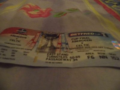 Betfred Cup Final, Aberdeen V Celtic Used Match Ticket, 27 November 2016