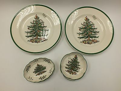 6 Piece Spode China Pottery Christmas Tree Collection  - W47