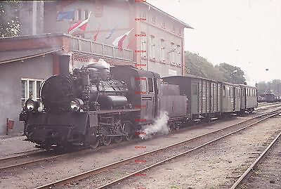 RUA669d POLAND steam locomotive at Koszalin Original 35mm slide with copyright