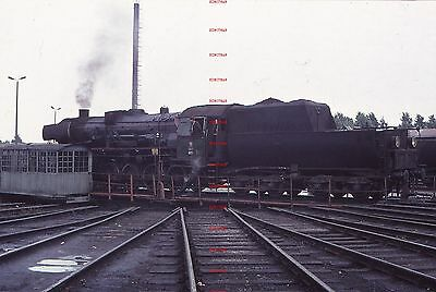 RUA670d POLAND unidentified steam loco Original 35mm slide with copyright