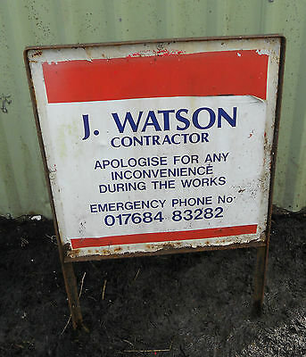 METAL Free STANDING Highway Traffic A-BOARD ROADSIGN Road Sign - WATSON CONTRACT