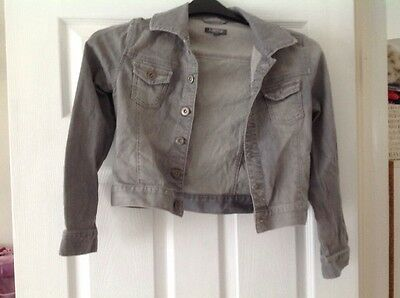 Grey Marks And Spencer's Limited collection Denim Jacket Age 9-10yrs