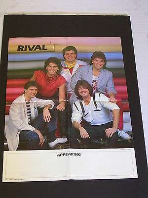 Rare RIVAL Promo Rock Poster by Pat Johnson
