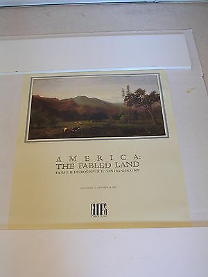 AMERICA THE FABLED LAND SAN FRANCISCO GUMPS Exhibition Poster Relic 1988