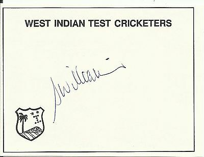 STUART WILLIAMS (West Indies Test Cricketers card), ORIGINALLY SIGNED!