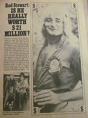 Rod Stewart, Full Page Vintage Clipping