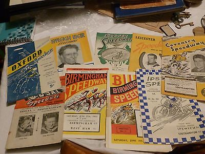 COLLECTION OF 1950s /1940s SPEEDWAY PROGRAMMES