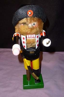 "Nutcracker Wooden PIRATE ""AARRGGH"" ALL WOOD & ALL HAND PAINTED"