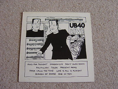 UB40: UB40 Live LP: 1983 UK Release.