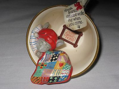 Enesco Home Sweet Home Sleeping Mouse In Tea Cup Ornament 1989 #1 In collection
