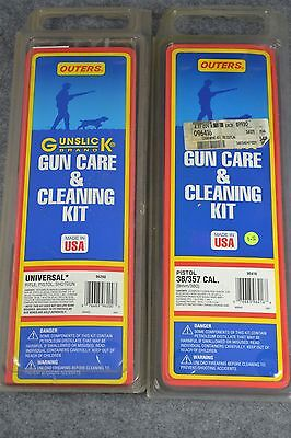 Outers Gun Care and Cleaning Kit Pistol 38/357 Rifle Shotgun