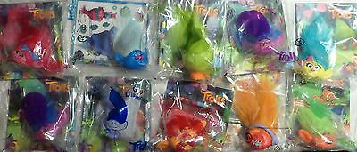 McDonalds Happy Meal Toys 2016 TROLLS  COMPLETE FULL SET OF 10 Plus FREE GIFT