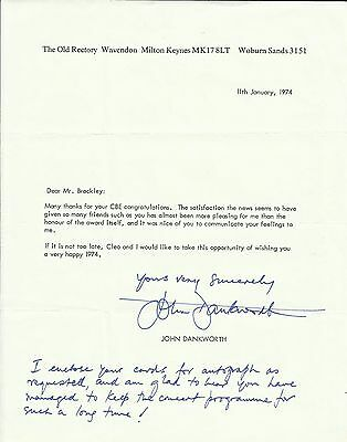 1927-2010 JOHN DANKWORTH, typed letter, ORIGINALLY SIGNED!