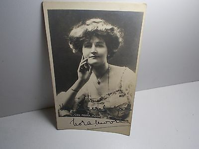 English Edwardian Stage Actress Nora Moore  Signed Rpp Postcard Tuck