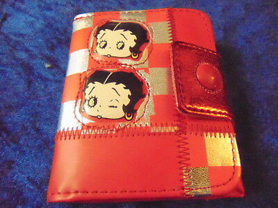 Betty Boop Purse Red & Silver Purse Clips on the Wallet Part Very Snazzie