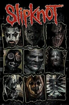 SLIPKNOT ~ CROOKED FACES 24x36 MUSIC POSTER Corey Taylor Shawn Crahan