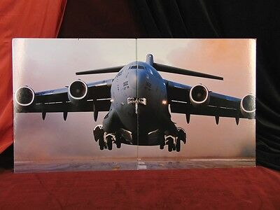 Mounted Photo C17 GLOBEMASTER USAF 437th AW Airlift Wing Ex-BOEING DISPLAY PIECE