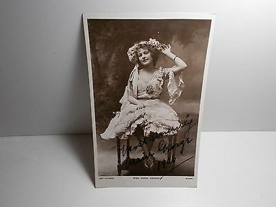 English Edwardian Stage Actress Marie George Signed Rp Postcard  1906