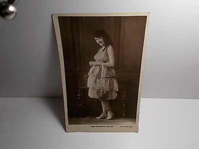English Edwardian Stage Actress Marjorie  Fulton Signed Rp Postcard  1923