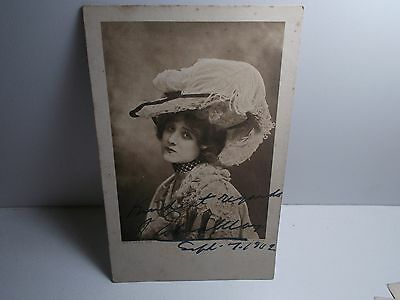 English Edwardian Stage Actress Edna May Signed Rp Postcard  1902 Costume
