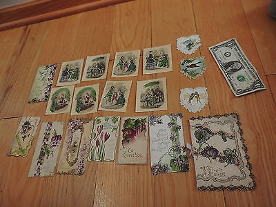 Victorian Paper Birthday Greeting Cards Diecuts & More (e5)