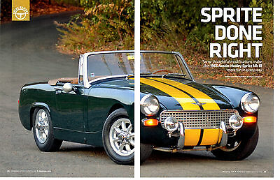 1965 AUSTIN-HEALEY SPRITE Mk III ~  GREAT 6-PAGE ARTICLE / AD