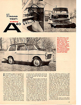 1959 Austin A-40 ~ Nice Original 2-Page Road Test / Article / Ad