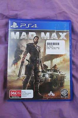 Mad Max PS4 game great condition