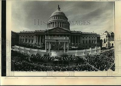 1977 Press Photo United States Capitol Building During Jimmy Carter Inauguration