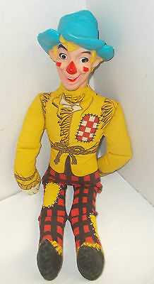 """1965 Chex Cereal Scarecrow Doll 22"""" with Vinyl Head, Ralston Purina"""