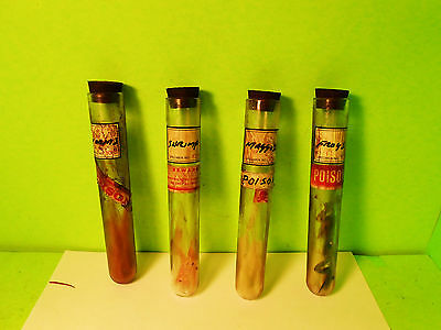 Oddities Apothecary Lab 4 Test Tube #1 Witch Specimens Halloween Sideshow Gaff