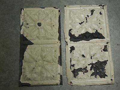 Old Antique ( Metal ) tin ceiling tile (2) 12x6 Cherokee nation headqarters