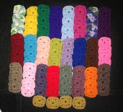100 Crochet Centers For Granny Squares Afghan Starter Supplies, Appliques Lot B