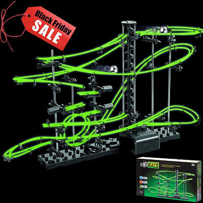 SALE! 10m Glow In The Dark Space Rail Race Track Marble Run Space Toy Game Gift