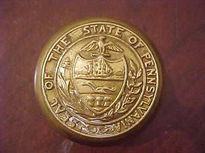 Patd 1886 Seal of the State of Pennsylvania Brass Door Knob