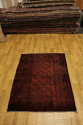 Antique Tribal Balouch Turkoman Persian Oriental Area Rug Carpet 5X6
