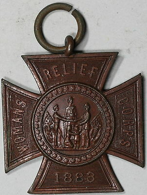 1883 WOMENS Relief Auxiliaries GRAND ARMY REPUBLIC Medal (30mm) 15110506R