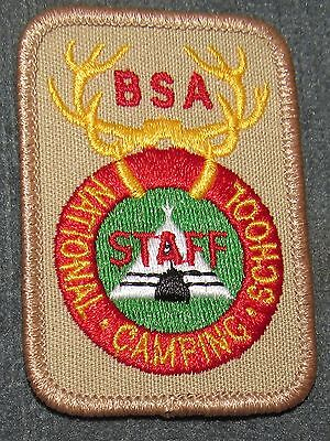 BSA National Camping School NCS Staff Patch Tan Background Tan Border PB