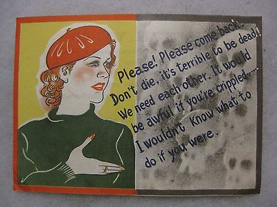 Wwii Japanese Propaganda Surrender Leaflet With Skulls & Soldiers Sweetheart