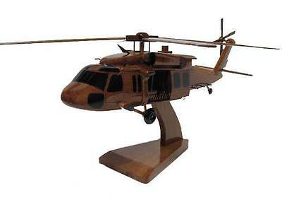 Sikorsky UH-60 UH-60L US Army Blackhawk Helicopter Mahogany Wood Wooden Model