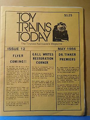 Toy Trains Today 1984 May Issue #12 Tinplate Railroaders Magazine