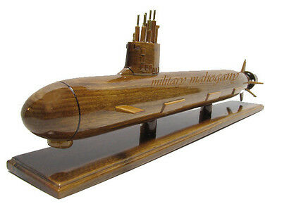 USS Virginia SSN-774 Navy Nuclear Class Submarine Mahogany Wood Wooden Sub Model