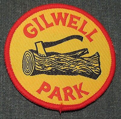 BSA Wood Badge Woodbadge Gilwell Park Ax and Log Yellow Patch