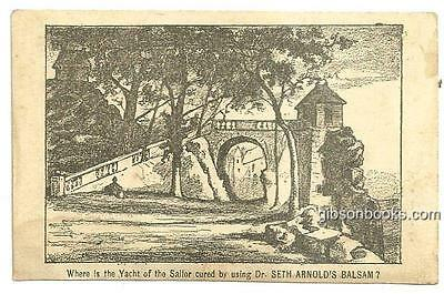 Victorian Trade Card for Dr. Seth Arnold's Balsam with Puzzle Picture