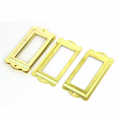 Office Library File Drawer Tag Label Holders Frames 85mm x 42mm 8PCS