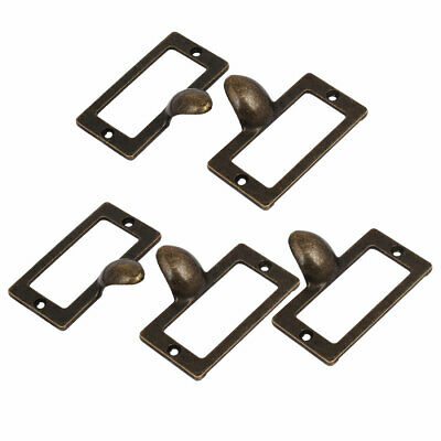 Office Library File Cabinet Tag Frame Label Holder Pull Handles 58mm x 30mm 5PCS