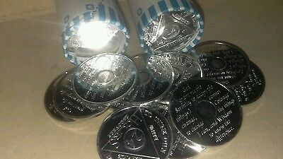 Lot of Fifty (50) pieces of Alcoholics Anonymous 24 hour desire chips