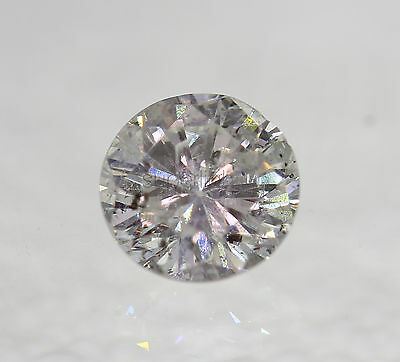 Certified 0.71 Carat E SI2 Round Brilliant Enhanced Natural Loose Diamond 5.77mm