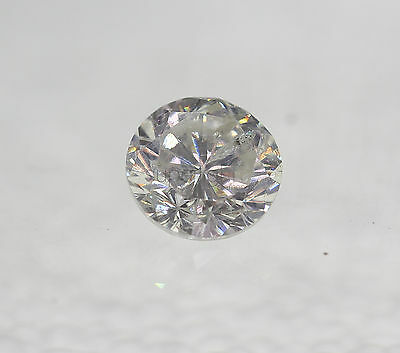 Certified 0.45 Carat F SI2 Round Brilliant Enhanced Natural Loose Diamond 4.78mm